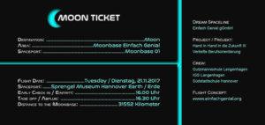 Moon Ticket offizielle Einladung